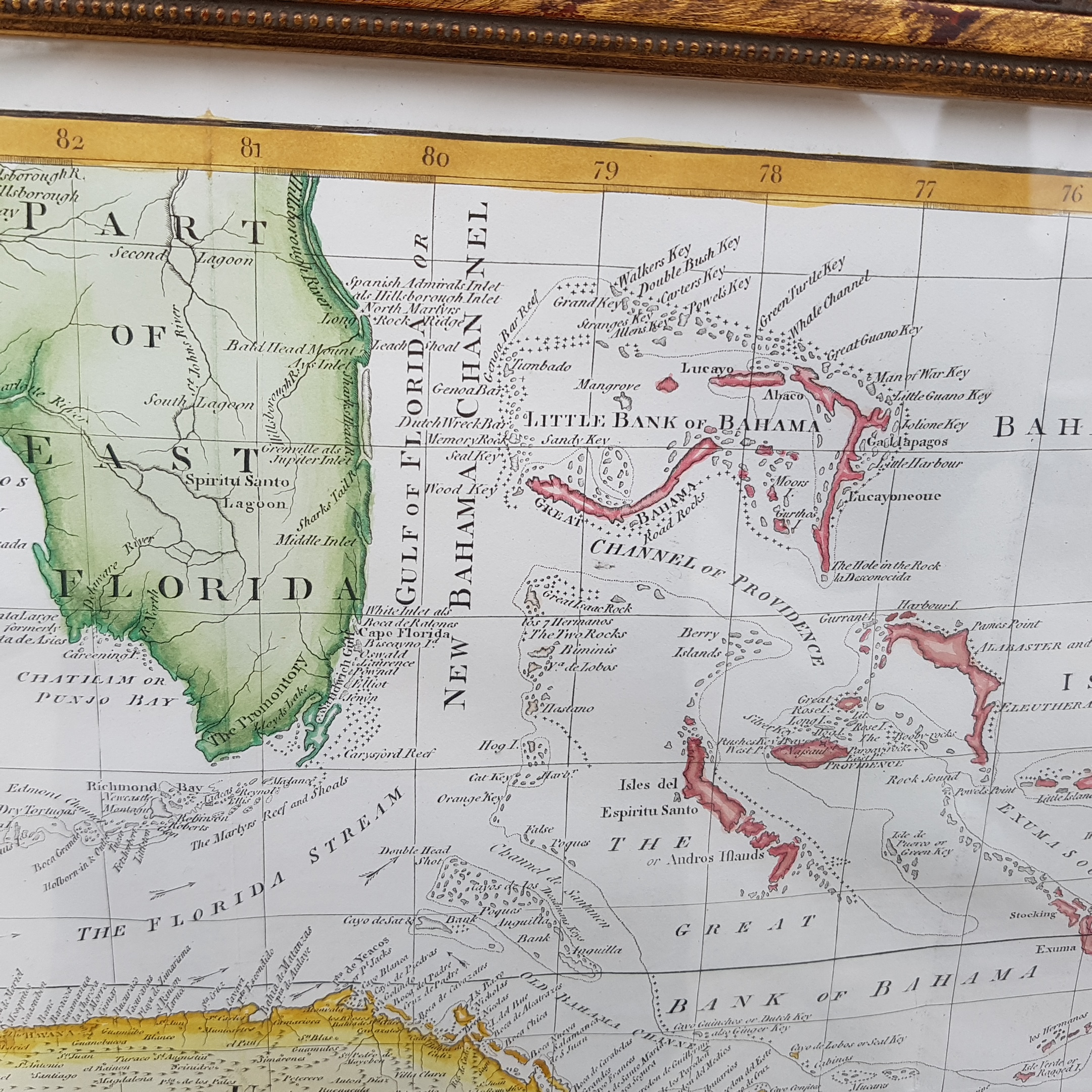 Bryan Edwards Caribbean Map 1793 from the History of the British ...