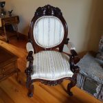 1850s carved Black Walnut Rococo Revival Chair
